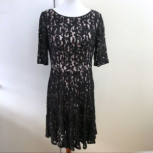 New Adrianna Papell Lace Overlay Dress Fit & Flare
